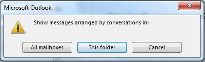 outlook conversation view